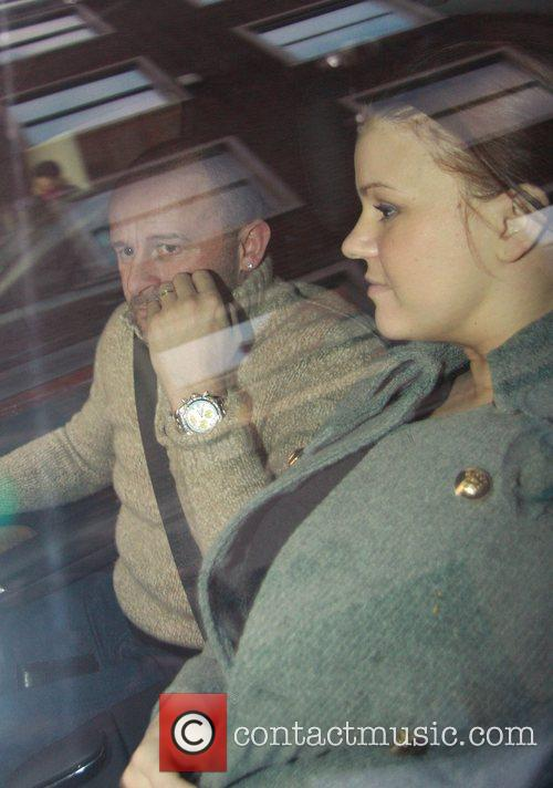 Mark Croft and Kerry Katona  Leaving Claridges...
