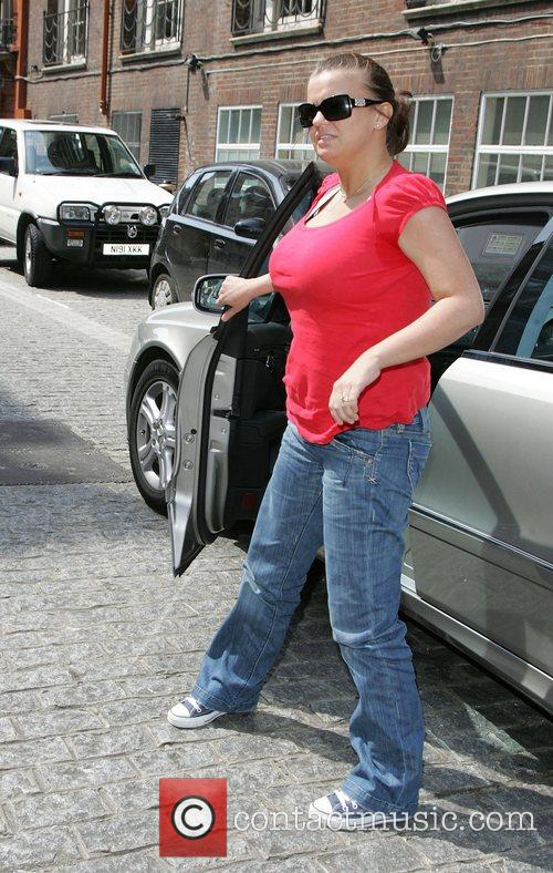 Kerry Katona receives a parking ticket whilst visiting...