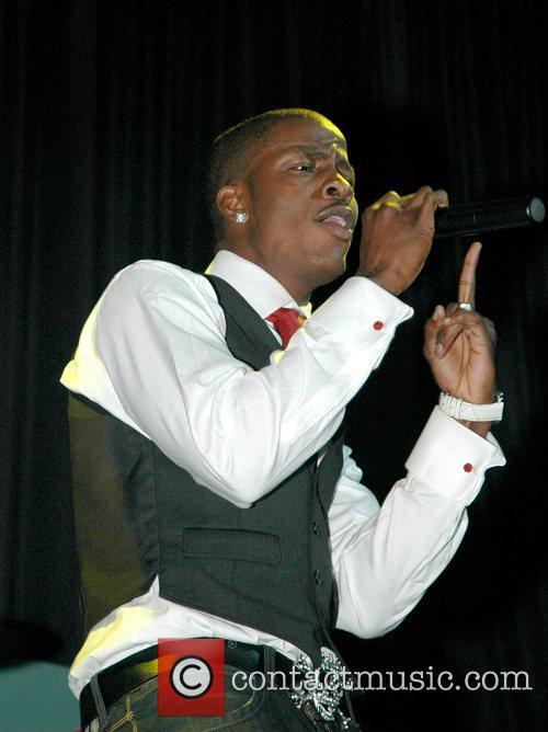 Performing live in concert as a supporting act...