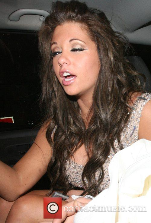 Bianca Gascoigne looking rather worse for wear