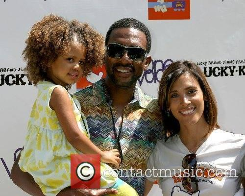 Bill Bellamy , wife Kristen, and daughter Kidstock...