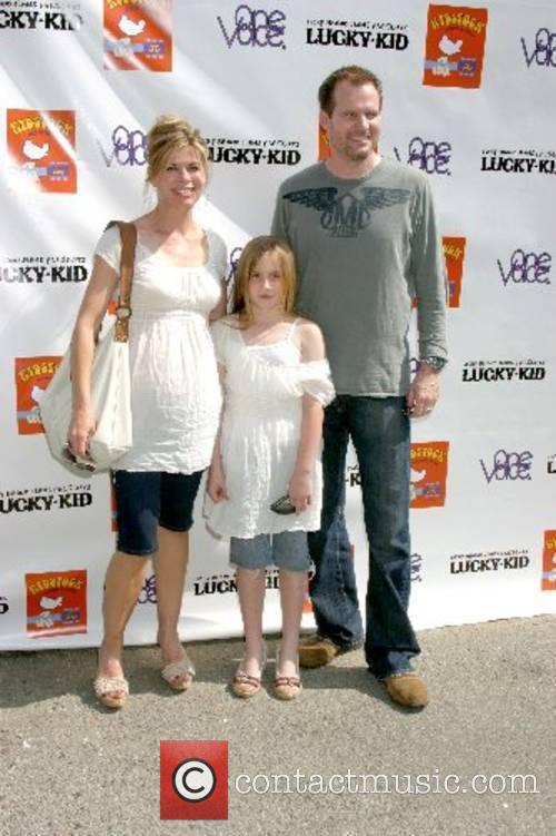 Beth Toussaint, daughter Tess, and Jack Coleman Kidstock...