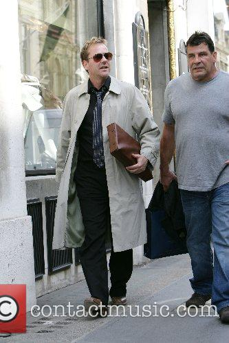 Kiefer Sutherland and a friend out shopping on...