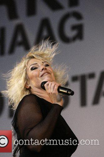 Kim Wilde performing at the Free Music Festival...