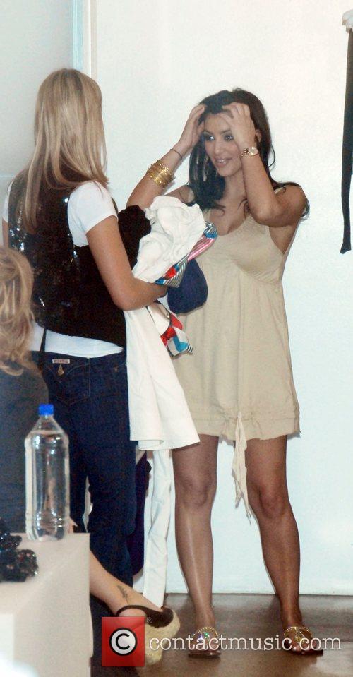 Reality star Kim Kardashian shops at Fornarina Boutique...