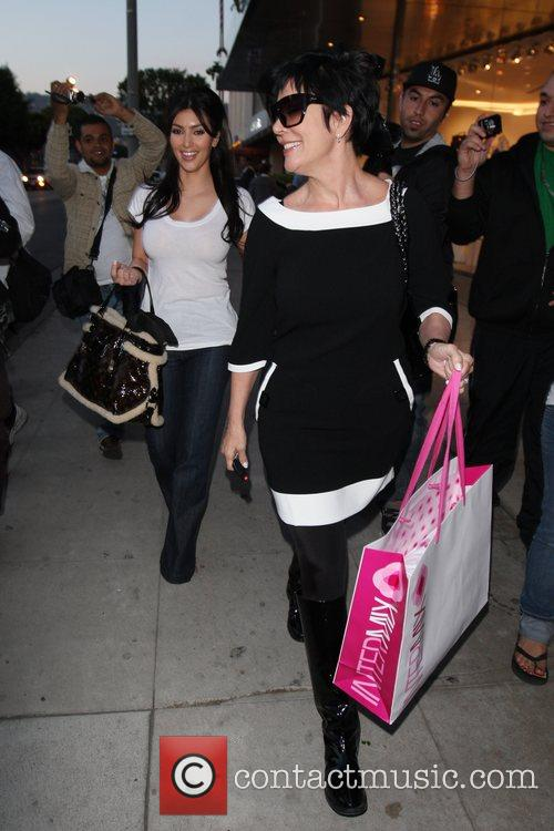 Kim Kardashian and Her Mother Kendall Shopping At Intermix Store At Robertson Blvd 5