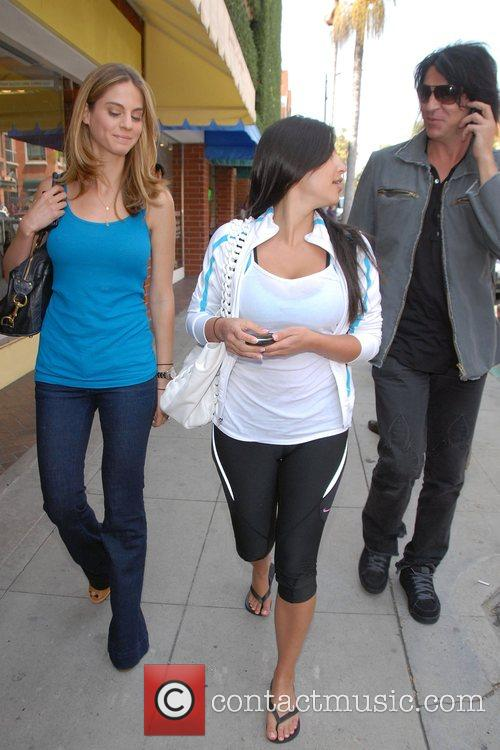 Kim Kardashian out and about with a friend...