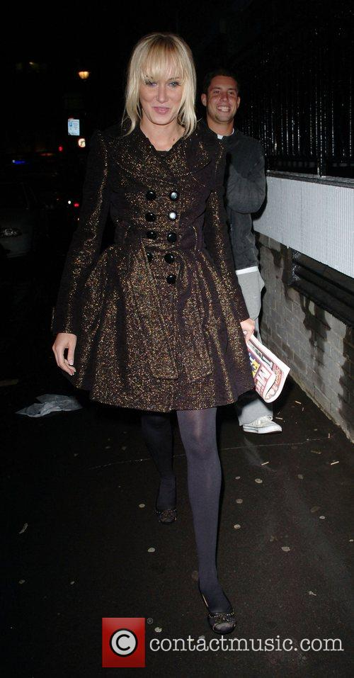 Kimberley Stewart arriving at her hotel in Soho