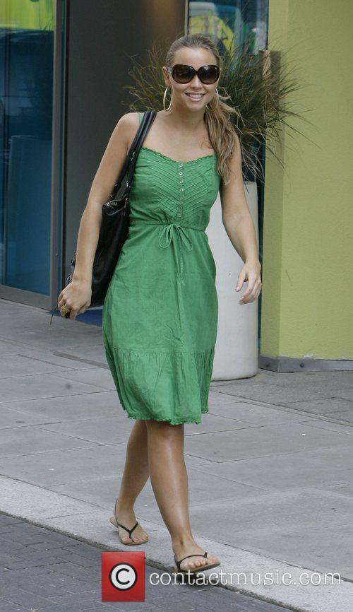 Girls Aloud member Kimberley Walsh, leaving her hotel...