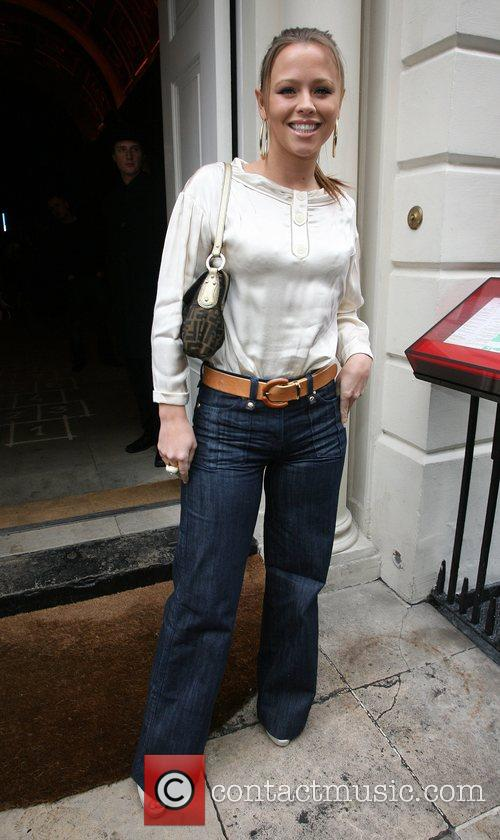 Kimberley Walsh  arriving at Sketch Club to...