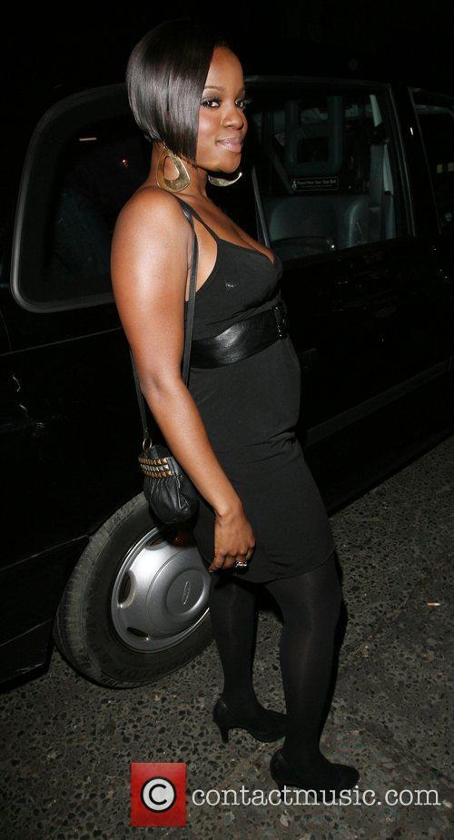 Keisha Buchanan Arriving at Kimberley Walsh's 26th birthday...