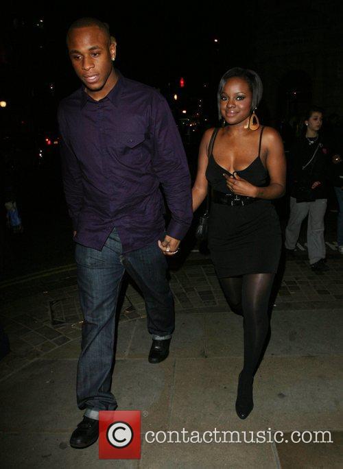 Keisha Buchanan with her boyfriend Leaving Kimberley Walsh's...