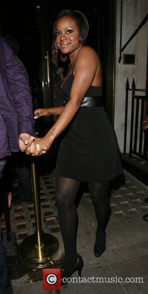 Keisha Buchanan Leaving Kimberley Walsh's 26th birthday party,...