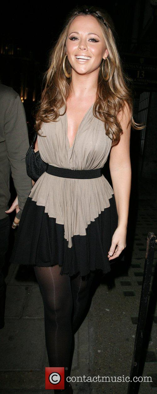 Kimberley Walsh Arriving at her 26th birthday party,...