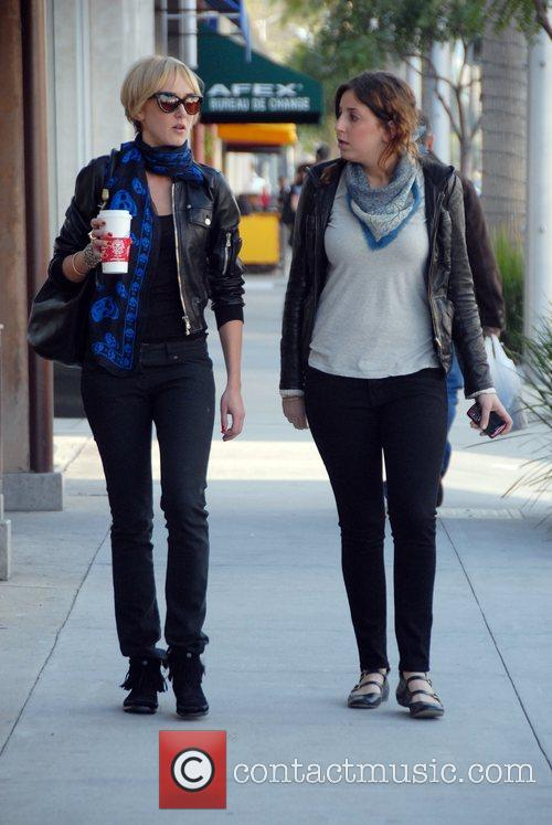 Walking through Beverly Hills with a friend