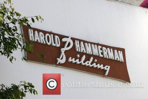 Kimberly Stewart leaving the Harold Hammerman Building