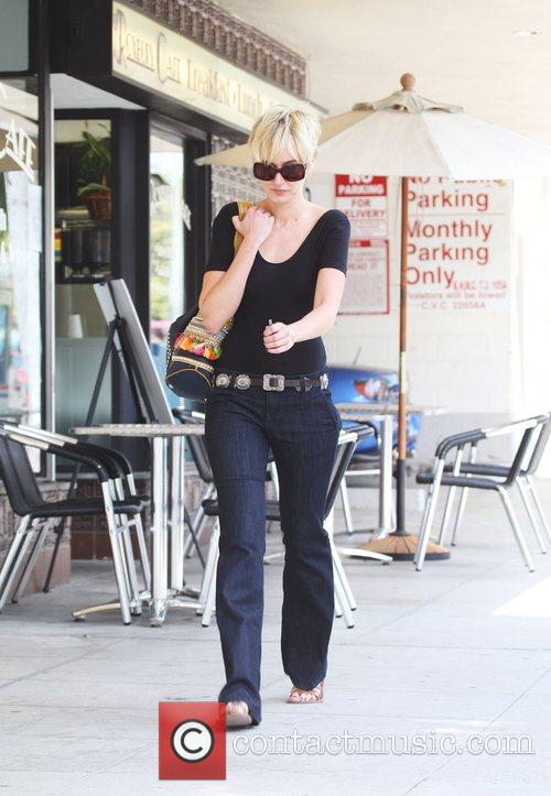 Kimberly Stewart leaving a pharmacy in Beverly Hills...