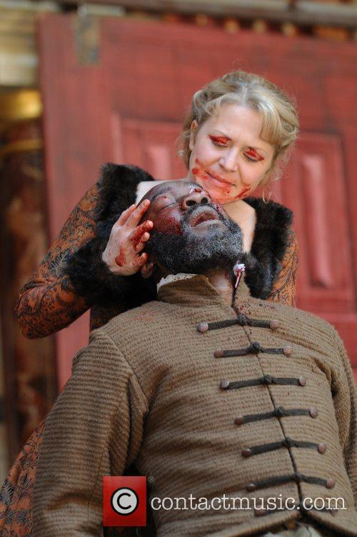 Kellie Bright and Joseph Mydell King Lear at...