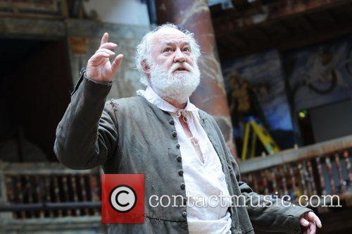 Scene the storm with David Calder King Lear...