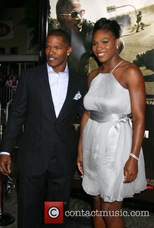 Jamie Foxx and Serena Williams The Kingdom Premiere...