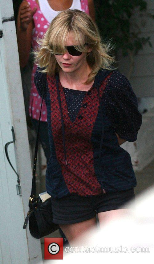 Kirsten Dunst leaves a hair salon in Hollywood
