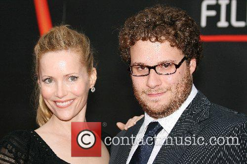 Leslie Mann and Seth Rogen The premiere of...