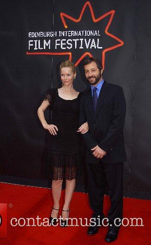 Leslie Mann and Judd Apatow The premiere of...
