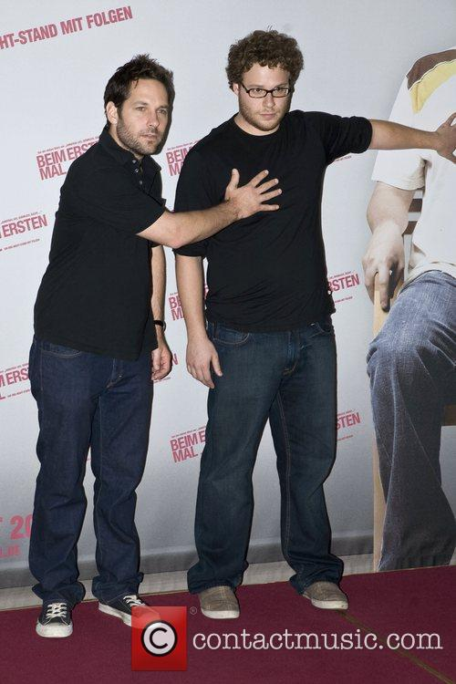 Paul Rudd and Seth Rogen Photocall for the...