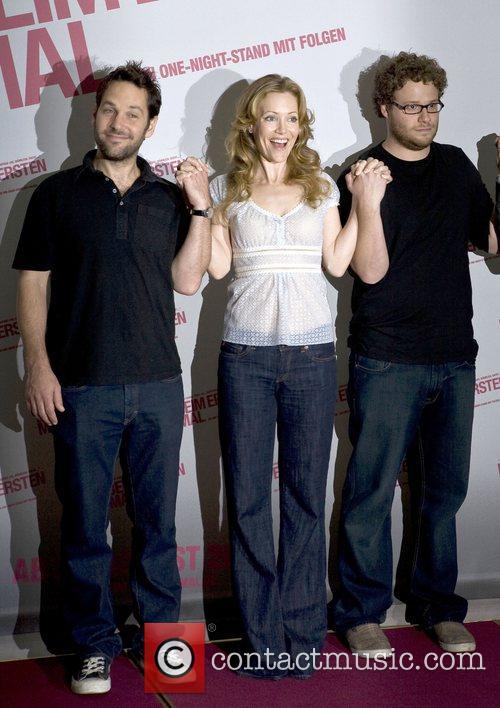 Paul Rudd, Leslie Mann and Seth Rogen Photocall...