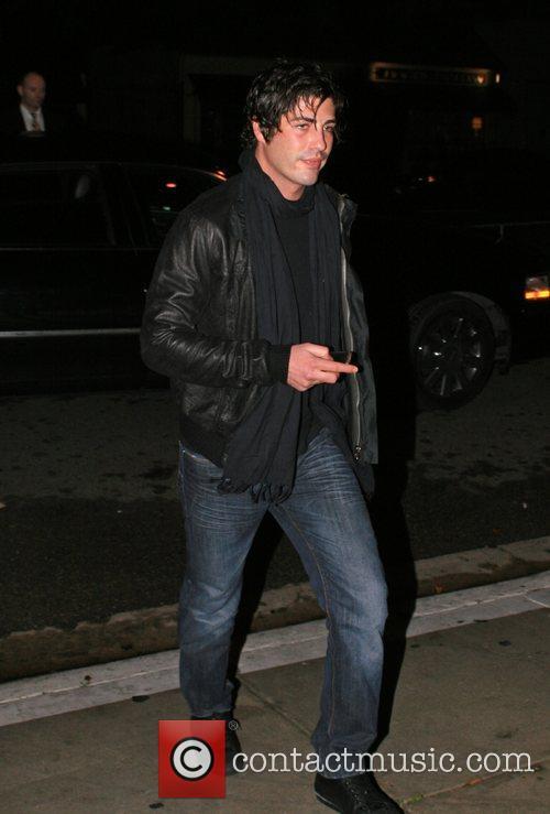Brandon Davis arriving at Koi restaurant