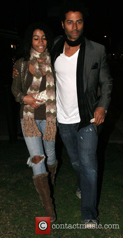 Eric Benet with his daughter India at Koi...
