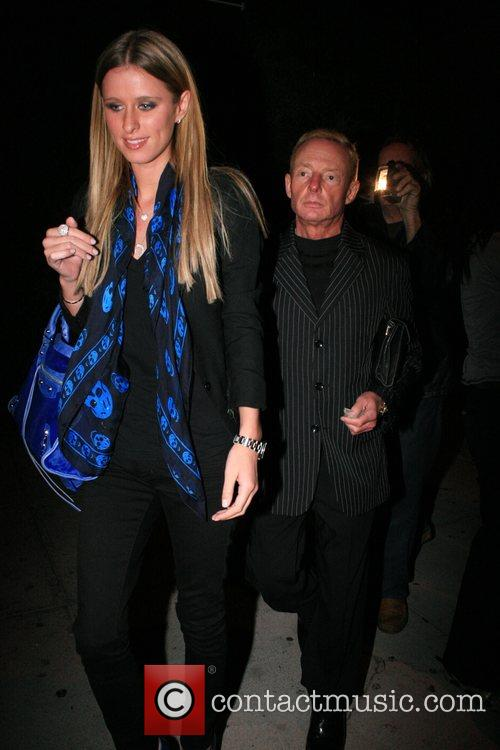 Nicky Hilton with publicist leaving Koi in West...