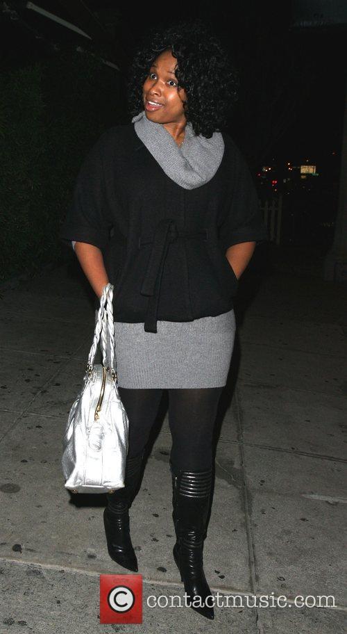 Jennifer Hudson leaving Koi Restaurant