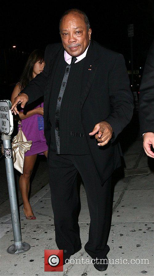 Quincy Jones Arriving at Koi Los Angeles, California