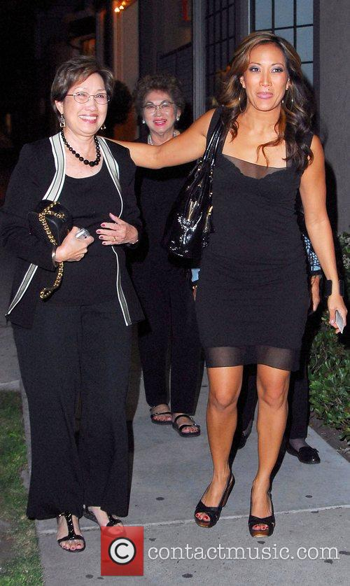 Carrie Ann Inaba and her aunt arriving at...