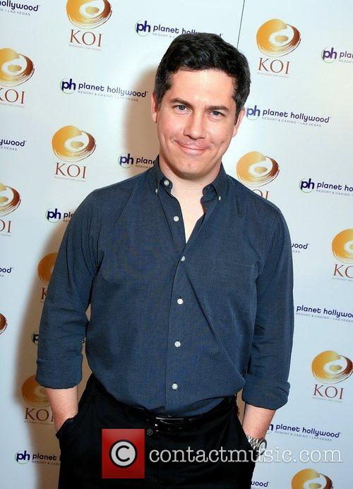 Chris Parnell KOI restaurant opening at Planet Hollywood...