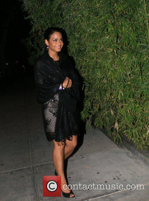 Christina Milian arriving at Koi Restaurant in West...