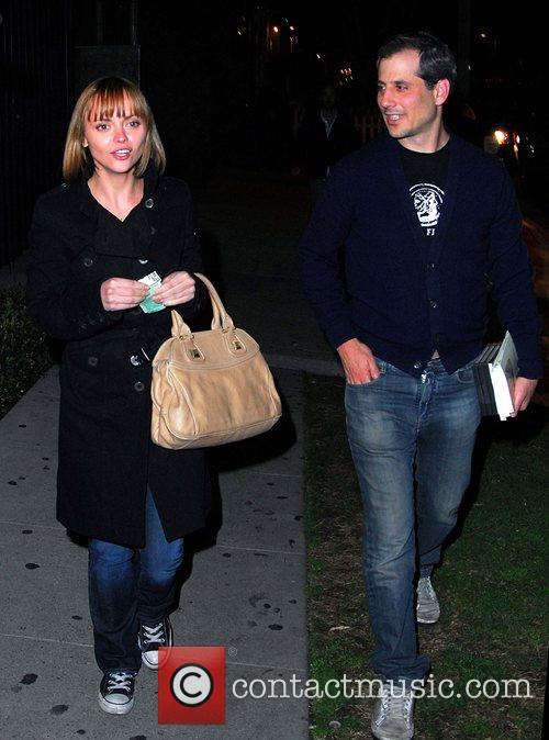 Christina Ricci leaving Koi restaurant, after dining with...