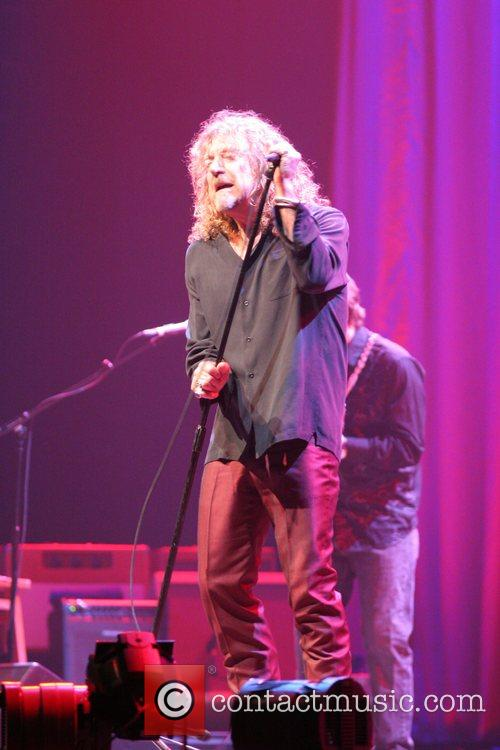 Robert Plant performing in concert at the Wembley...