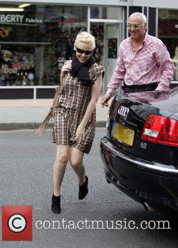 Kylie Minogue on her way to a photoshoot,...