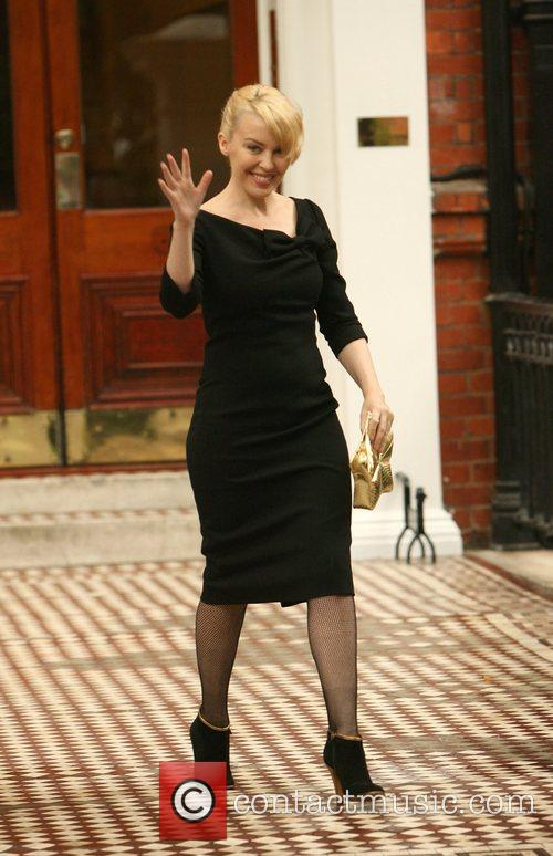 Kylie Minogue looking very elegant as she leaves...