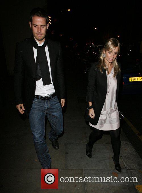Jamie Redknapp and Louise Redknapp leaving the relaunch...
