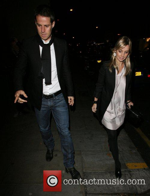Jamie Redknapp and Louise Redknapp leaving the relaunch...