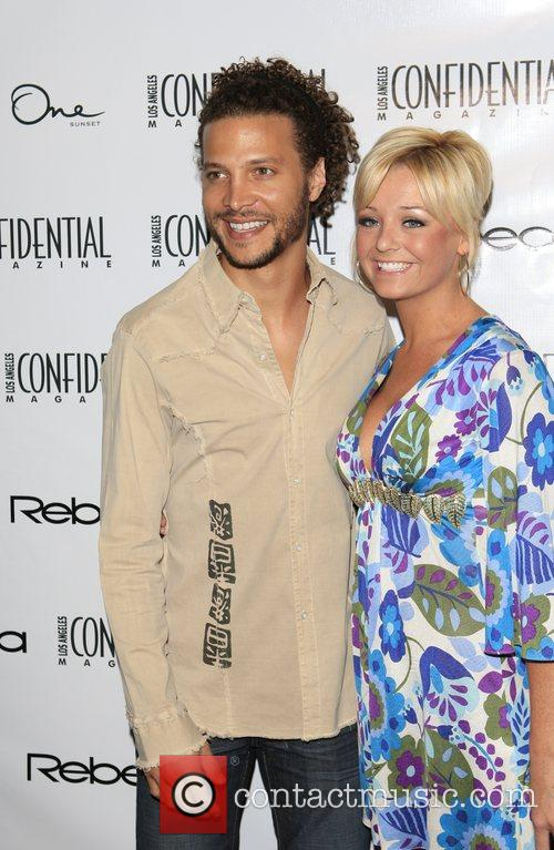 Justin Guarini and Guest Los Angeles Confidential Magazine's...