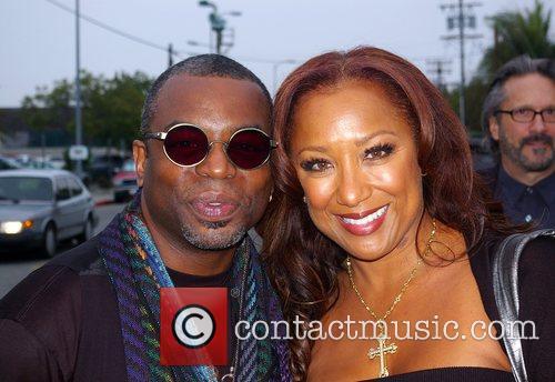 Levar Burton and Stephanie Cozart Burton L.A. Fashion...
