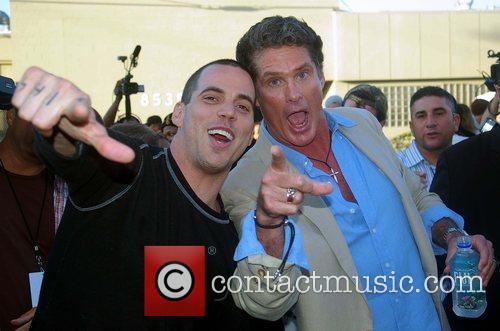 Steve-O and David Hasselhoff Mercedes-Benz Fashion Week 2008...
