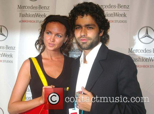 Adrian Grenier and Guest Mercedes-Benz Fashion Week 2008...