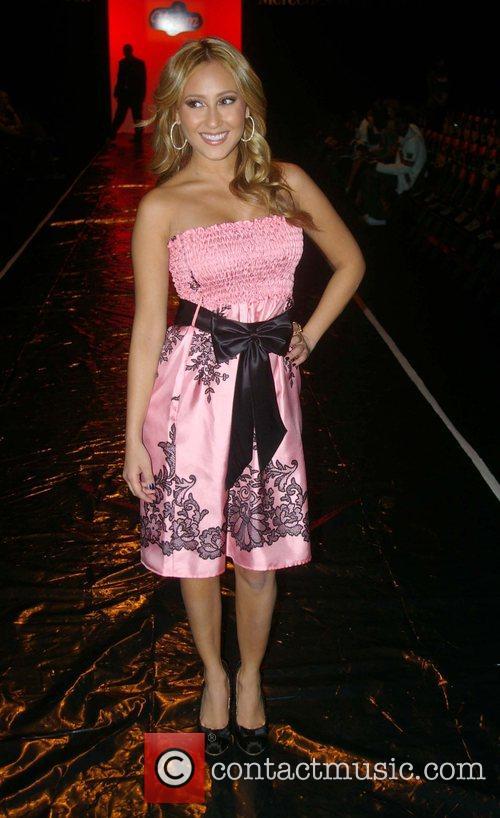 Adrienne Bailon Mercedes-Benz Fashion Week 2008 at Smashbox...