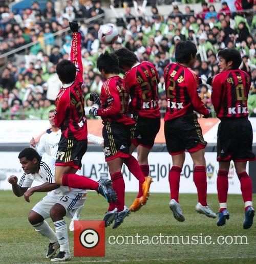 Seoul FC players  Motorola Cup Asia tour...