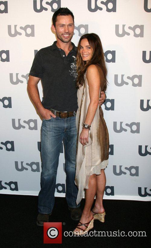Jeffrey Donovan and Gabrielle Anwar Launch of USA...